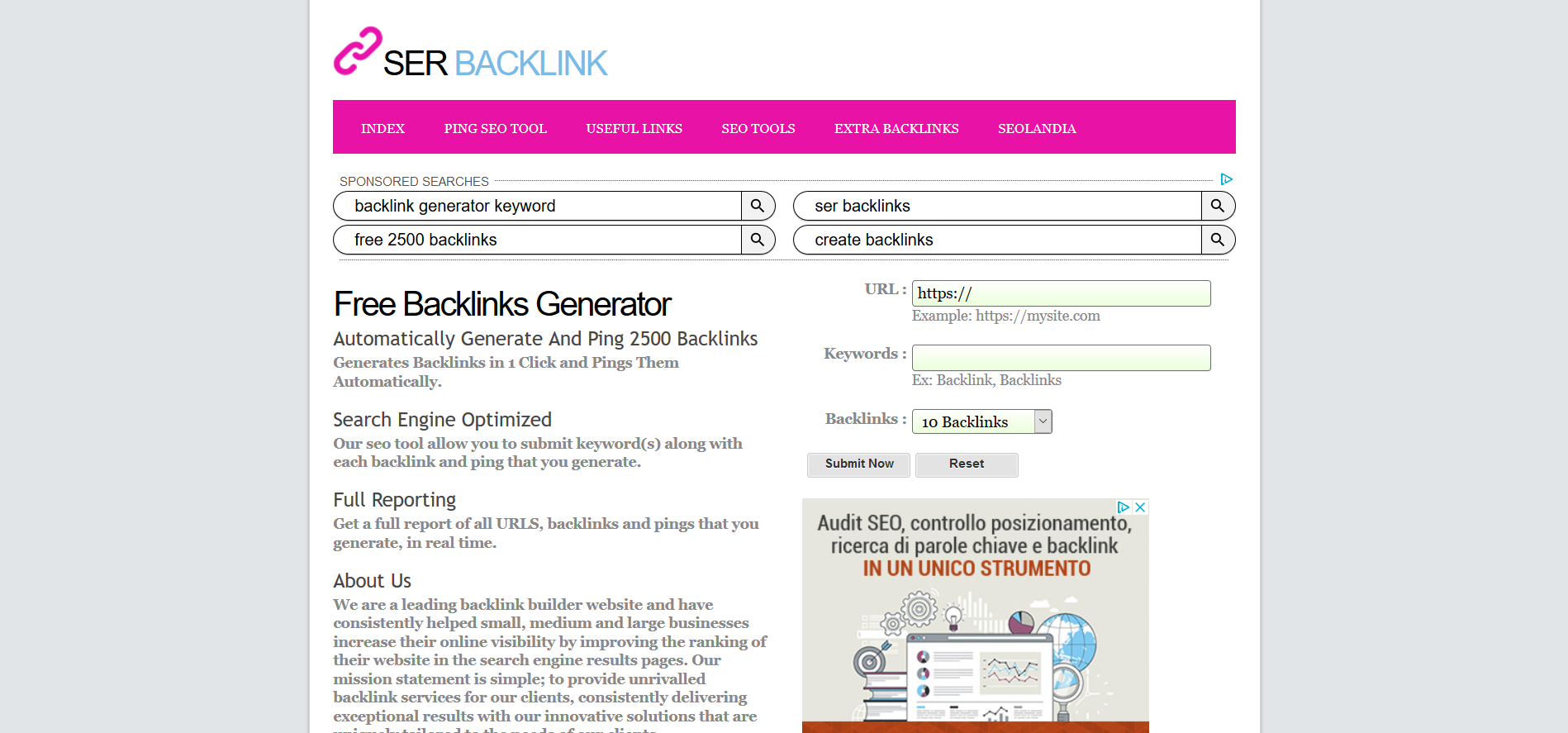 Backlink Generator ~ Generate Free Backlinks > Online